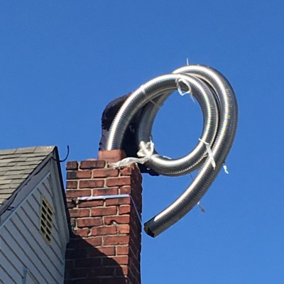Stainless Steel Chimney Liner Installation